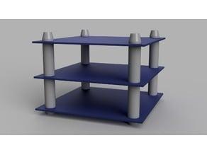 Desktop shelf using acrylic sheets