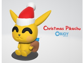 Christmas Pikachu - by Objoy Creation