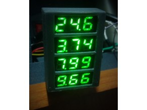 4 Slot micro LCD voltmeter