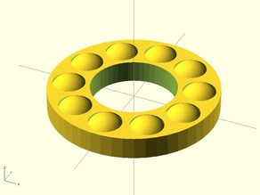 customizable thrust bearing