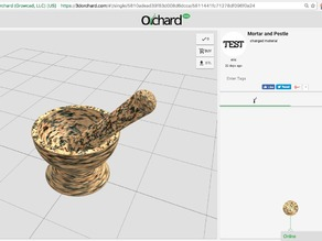 Orchard Mortar and Pestle