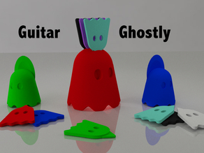 Guitar Pick, nail and pick's support Ghostly