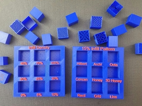 Display Tray for Infill Pattern and Infill Density