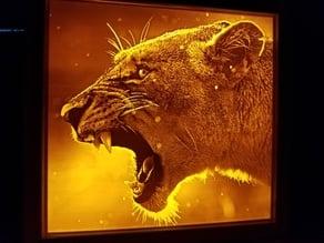 Lioness Lithophane