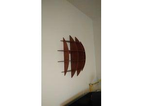Hemispherical cd shelf from plywood cnc