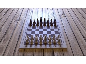 4K Textured Chess Set