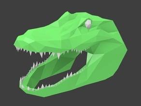 Low Poly Alligator Head