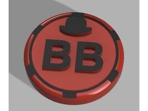 Bowler Hat Poker chip (Big Blind, Small Blind, Dealer)