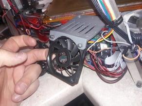 Kossel Clear Arduino Fan Mount