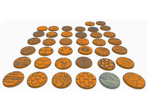 25mm Round Bases (x38) for Dungeons & Dragons or Wahammer 40k tabletop Miniatures