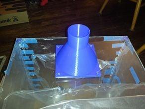 140mm fan to 2.5 inch hose adapter