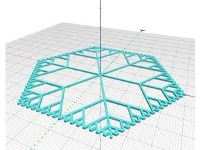 Parametric Fractal Snowflake