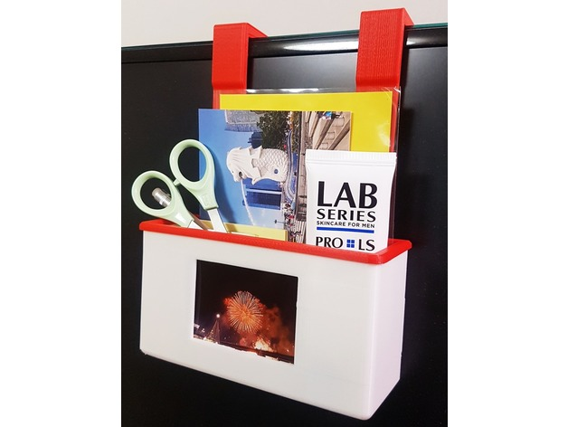 Desk Organizer With Photo Frame By 3dyk Thingiverse