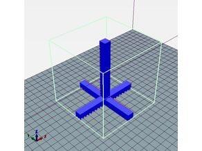 XYZ size calibration 10CMx1CM 100MMx10MM