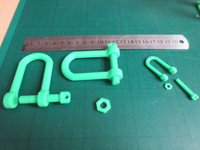 Tank style Tow Hook (Shackle)