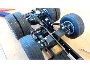 Middle steering axle for 6x2 tamiya truck