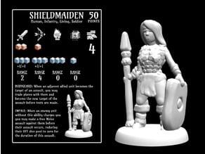 Shieldmaiden (18mm scale)