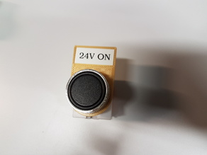22mm Button/Light Label