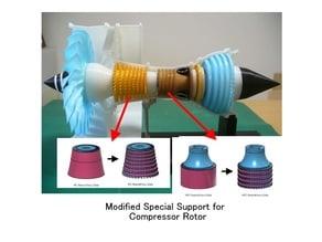Jet Engine; 3-Spool, Modified Parts