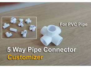 5 Way Pipe Connector - Customizer
