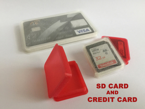 SD CARD and CREDIT CARD FLAT BOX