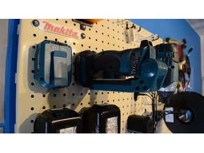 "Makita 18V Tool Holder For 1"" Pegboard"