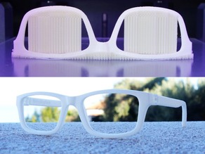 Lunettes VTO | VirtualTryOn.fr 3D Printed Glasses (curved)