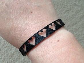 Hearts Bracelet in NinjaFlex
