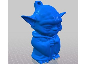 Mini Yoda Keychain Remixed from itech3dP