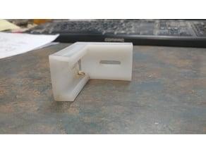 Drawer slide rear socket