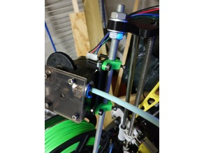 Titan extruder bowden mount on 8mm (threaded) rod