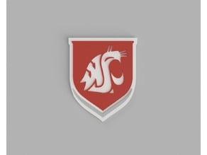 Washington State University Shield (Dual & Triple Extrusion)