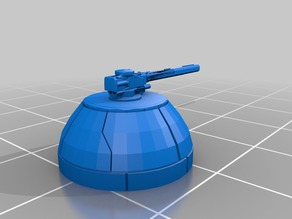 Printable gun turret