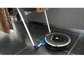 Clothes horse stopper for robot vacuum (iRobot / Roomba) - Customizable