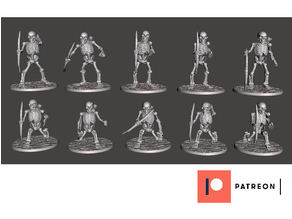 Skeleton Warriors with Longbows x 10 Poses