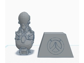 Zenyatta bust and stand - Overwatch