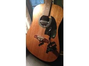 Acoustic guitar pickup cradle