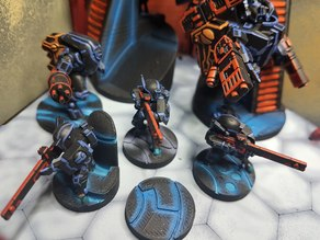 Tau 25mm and 50mm Tron Bases