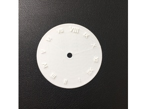 Able to Customize 3D Printing Rome Number Clock Board (Students Work)