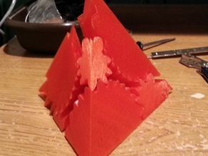 Pyramid (tetrahedron) screwless gears