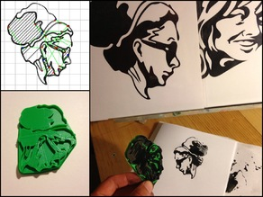 Portrait Drawing Stamp