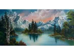 Bob Ross painting lithophane
