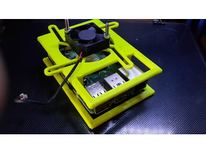 Raspberry Pi 4 case with fan (any size) customizable