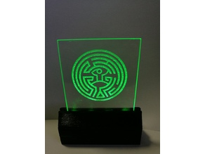 LED display stand for 3mm  Acrylic/Glass