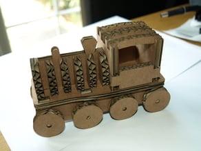 Slot together cardboard train