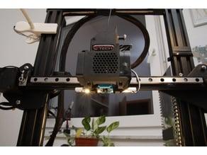 highly integrated BMG / E3D v6 extruder mount - multi-platform - CAD-files included