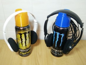Convert can of Energy drink in a Headphone Stand (Monster, Locura, Rockstar, redbull...)
