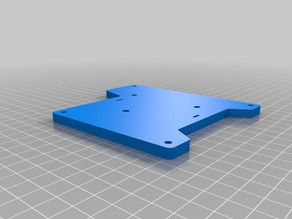 Tronxy X1 motor plates and bottom bed plate