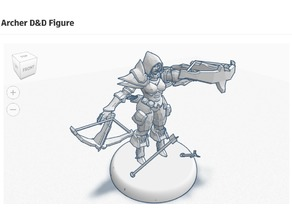 Female Archer D&D Figure
