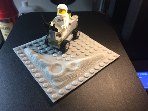 LEGO Crater Base Plate (mini version 12x12)